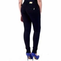 Calça Sawary Jeans Cintura Média Muito Strech