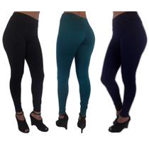 Calça Legging Suplex 8%de Coton P M G P/academia E Dia Dia