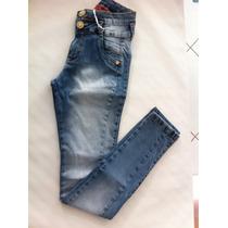 Calça Jeans Feminino Com Detalhe Empina Bumbum