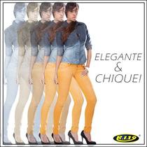 Calça Feminina #ri19 Skinny #amarela Mostarda - #lançamento