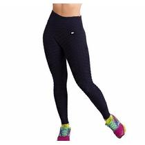 Calça Feminina Alta Sustentação Malhar Tecido Bolha Fitness