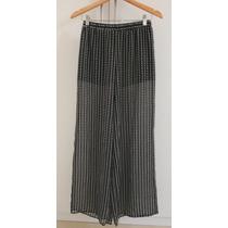 Calça Pantalona Estampada P&b Us4 (br 36) - H&m