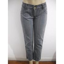 Calça Jeans Feminina Xadrez, Tam 42 Usado Bom Estado