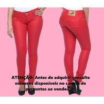 Calça Jeans Resinada Sawary Feminina Skinny 234171 20% Desc.