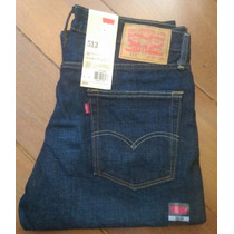 Levi´s 513 Calça Jeans Azul Escuro Lisa Slim Fit Levis 501