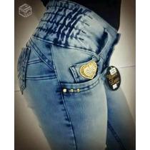 Calças Jeans Femeninas Water Luxe,levanta Bumbum,linda,confo