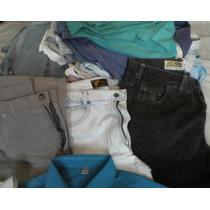 Lote Calca Jeans+camisas Sociais Manga Curta Moleza