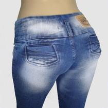 Kit Calça Jeans Feminina Lote Com 5 Unid Atacado F Grátis