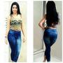 Jegging, Legging, Imitando Jeans, Estampado, Pronta Entrega