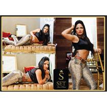 Calça Jeans Feminina Set Animal Print