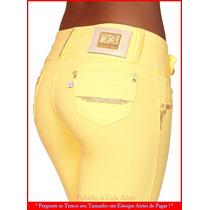 Calça Moletinho Visual Basic Amarela Não É Jeans Brz