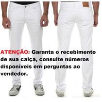 Calça Branca Sawary Masculina Com Elastano (235103) Promoção