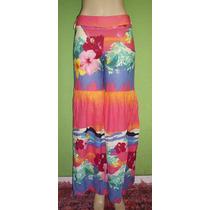 Calça Pantalona Lucy In The Sky Estampa Floral Tamanho 40