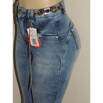 Calça Jeans Hot Pants Levanta Bumbum Afront Estilo Pitbull