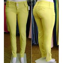 Calça Skinny Colorida Amarela Promoção