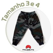 Calça Infantil Camuflada Nº 03 / 04 - 100% Algodão