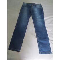 Calça Jeans Feminina Tam 44 Bolsos Redondos C/ Pedras Oferta