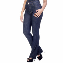 Sawary Calça Jeans Flare Feminina Cintura Alta Hot Pants