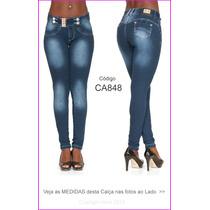 Calça Jeans Feminina Azul Da Obsessão Estilo Pit Bull 848
