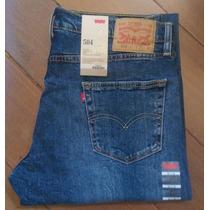 Levi´s 504 Calça Jeans Azul Tradicional Lavado Levis 501