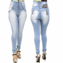 Calça Jeans Legging Feminina Credencial Corpete Cintura Alta
