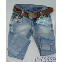 Calça Feminina Jeans Oppnus Cigarrete Skinny Lycra