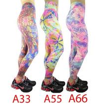 Calça Legging Estampada Cintura Alta Suplex Fitness Academia