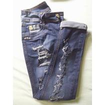 Calça Jeans Skinny Desfiada Tamanho 38 Empório Modinha