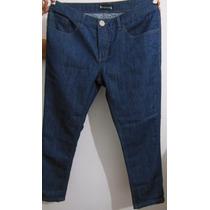 Calça Jeans Mormaii Básico - Feminino - Reta - Azul - Escuro