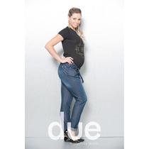 Calça Gestante Confort Lilia Azul Escuro G 44/46 - Due Vita