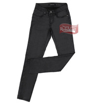 Calça Jeans Encerada Preta Feminina Skinny Com Elastano - Ta