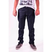 Calça Jeans Masculina Skinny Básica Elastano Escura Original