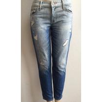 Hollister Easy Fit Boyfriend Calça Jeans Feminina Tamanho 38