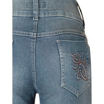 Calça Jeans Azul Feminino Cós Alto Tamanho 52 Ref 1492