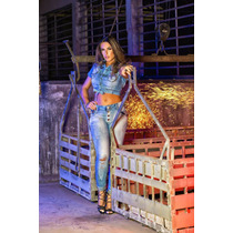 Calça Jeans Rhero Destroyed Nicole Bahls 2016