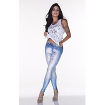 New Legging Jeans Lipsoul Girls Aline Riscado Legging 2295