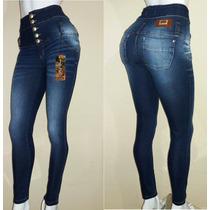 Calça Jeans Corpete Com Laycra Super Linda.