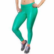 Calça Legging Verde Metalizada
