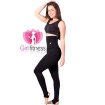 Calça Legging Fitness Modeladora Com Pezinho