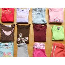 Lote De Roupas Importadas Menina 6 Anos Shorts Calça Blusas