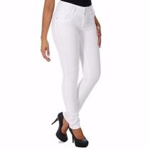 Calça Jeans Feminina Sawary Levanta Bumbum Branca