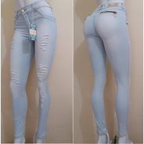 Calça Legue Jeans. 2% Elastano Cintura Alta