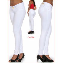 Calça Feminina Branca Temos Jeans Flare Skinny Social 794