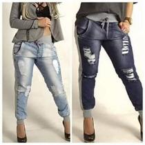 Calça Jeans Com Moleton Cintura Alta Aumeta Bumbum Molejeans