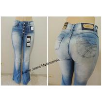Calça Jeans Flare Boca De Sino Hot Pants Até Tamanho 46