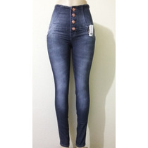 Calça Jeans Cintura Alta Corpete Modela O Corpo E Sinueta