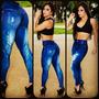 Calça Legging Estampa Jeans Ótima Qualidade