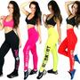 Calça Legging Com Silk Lisa Feminino Academia E Ginástica