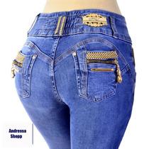Calça Jeans Feminina Do Mesmo Modelo Da Pitbull