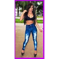 Calça Legging Est Jeans Atc. Kit 10 Peças Cor E Tam Variados